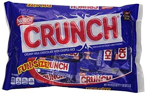 Crunch Chocolate Bar, Fun Size, 1 Bag, 11 oz (Bite Size Baby Ruth)