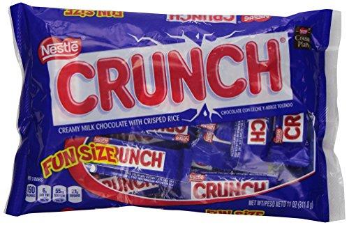 Crunch Chocolate Bar, Fun Size, 1 Bag, 11 oz