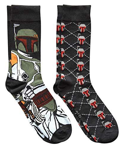 Star Wars Boba Fett Argyle Men's Crew Socks 2 Pair Pack Shoe Size 6-12]()