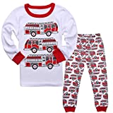 Tkala Fashion Boys Pajamas Children Clothes Set 100% Cotton Little Kids Pjs Sleepwear (4T, white2)