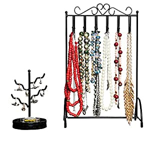 Best Necklace Holder & Ring Holder for Women by Specialty Styles With No Tip Stand