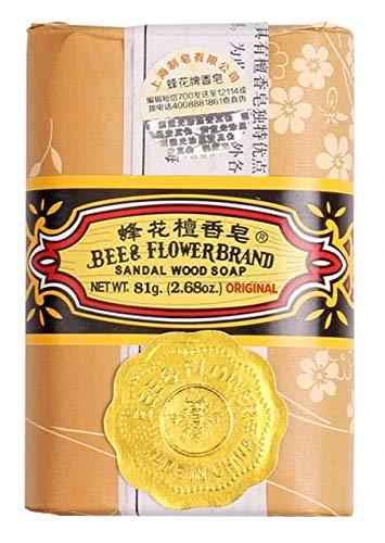 Flower Sandalwood Soap - Bee & Flower Sandalwood Soaps (Original Bee and Flower 12 Bars x 81g)