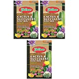 Hoffman 10404 Organic Cactus and Succulent Soil Mix, 4 Quarts, Brown/A Pack of 3