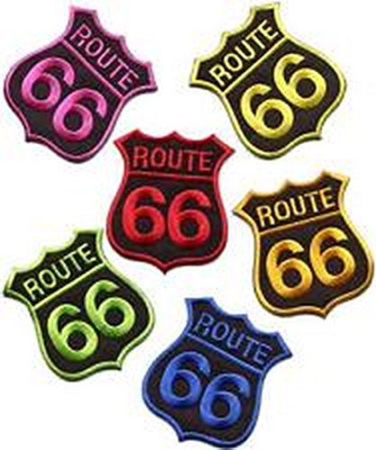 Spinner Lot of 6 Route 66 retro muscle cars americana USA appliques iron-on patches L-3 Better Bag Cloth Tee Shirt (66 Route Blazer)