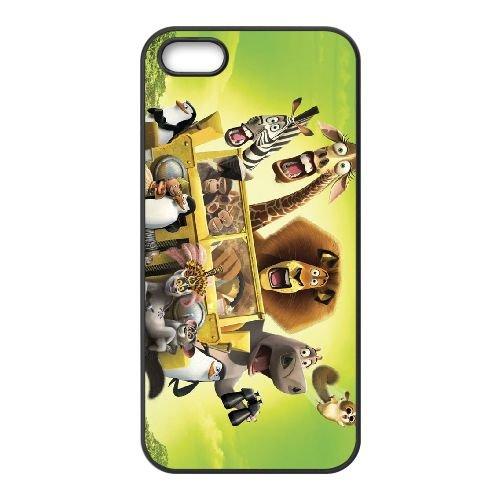 F2J55 Madagascar M4P5LN coque iPhone 5 5s cellulaire cas de téléphone couvercle coque noire XE4XGL8KV