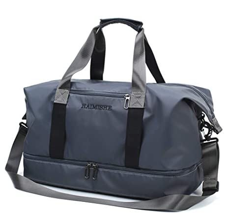 Travel Duffel Bag, Fordable Light Weight Athletic Gym Bag with Shoe Compartment for Women & Men X-Large