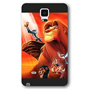 Customized Black Hard Plastic Disney Cartoon the Lion King Samsung Galaxy Note 4 Case WANGJING JINDA