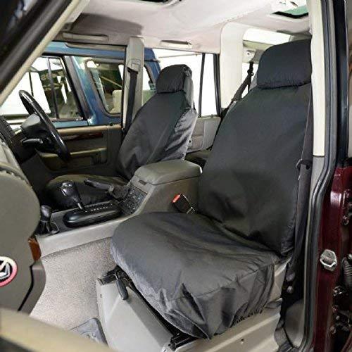 UK Custom Covers SC148B Tailored Heavy Duty Waterproof Front Seat Covers - Black