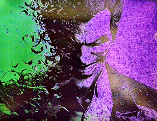 The Joker Batman Arkham Asylum DC Comics Spray Paint Art