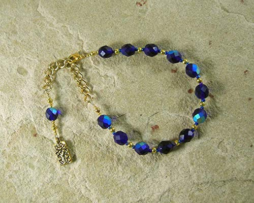 Hera Prayer Bead Bracelet: Greek Goddess of the Sky and Heavens, Marriage and Fidelity, and Queen of Olympus -