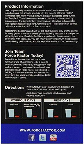 Force Factor TestX180 Premium Testosterone Booster