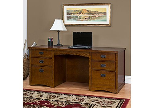 Mission Oak Executive Desk Mission Oak Finish Dimensions: 68.25