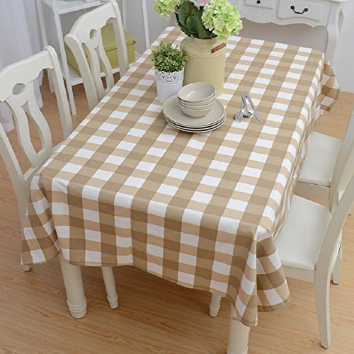 ear-resistant practical tablecloth wallpaper, simple fashion striped lattice pattern tablecloth, indoor coffee table, desk, table tablecloth,A,90140cm (Coffee Lattice)