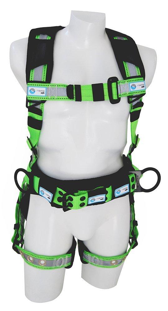 NARA SAFE NS9300010, Full body harness, construction reflective, high visibility, 3 D-rings