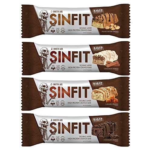 SINFIT® High Protein Bars, Great Tasting, 30g Protein, Gluten Free, 12-pack