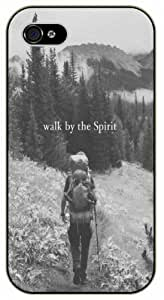 Walk by the spirit - Girl in forest - Bible verse iPhone 4 / 4s black plastic case / Christian Verses