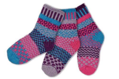 Solmate Socks, Mismatched Kids socks, A pair with a spare, Butterfly Small