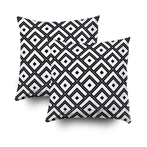 en Zippered Pillowcase Christmas Chevrons Rhombuses dots Wallpaper Japanese Mountains Motif 20X20Inch,Decorative Throw Custom Cotton Pillow Case Cushion Cover for Home ()