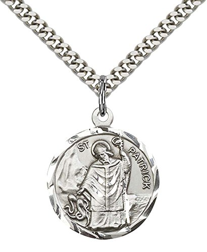 F A Dumont Sterling Silver St. Patrick Pendant with 24