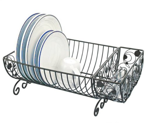Country Kitchen Dish Rack with Cutlery Basket - 18x10x8