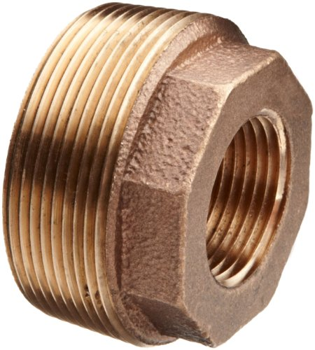 Lead Free Brass Pipe Fitting, Hex Bushing, Class 125, 1-1/2