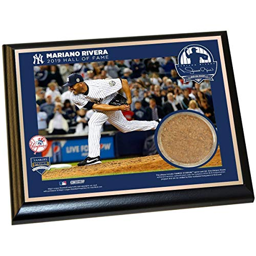 Steiner Sports Mariano Rivera New York Yankees 2019 Hall of Fame Plaque with 2013 Game Used Dirt from Yankee Stadium (8x10)