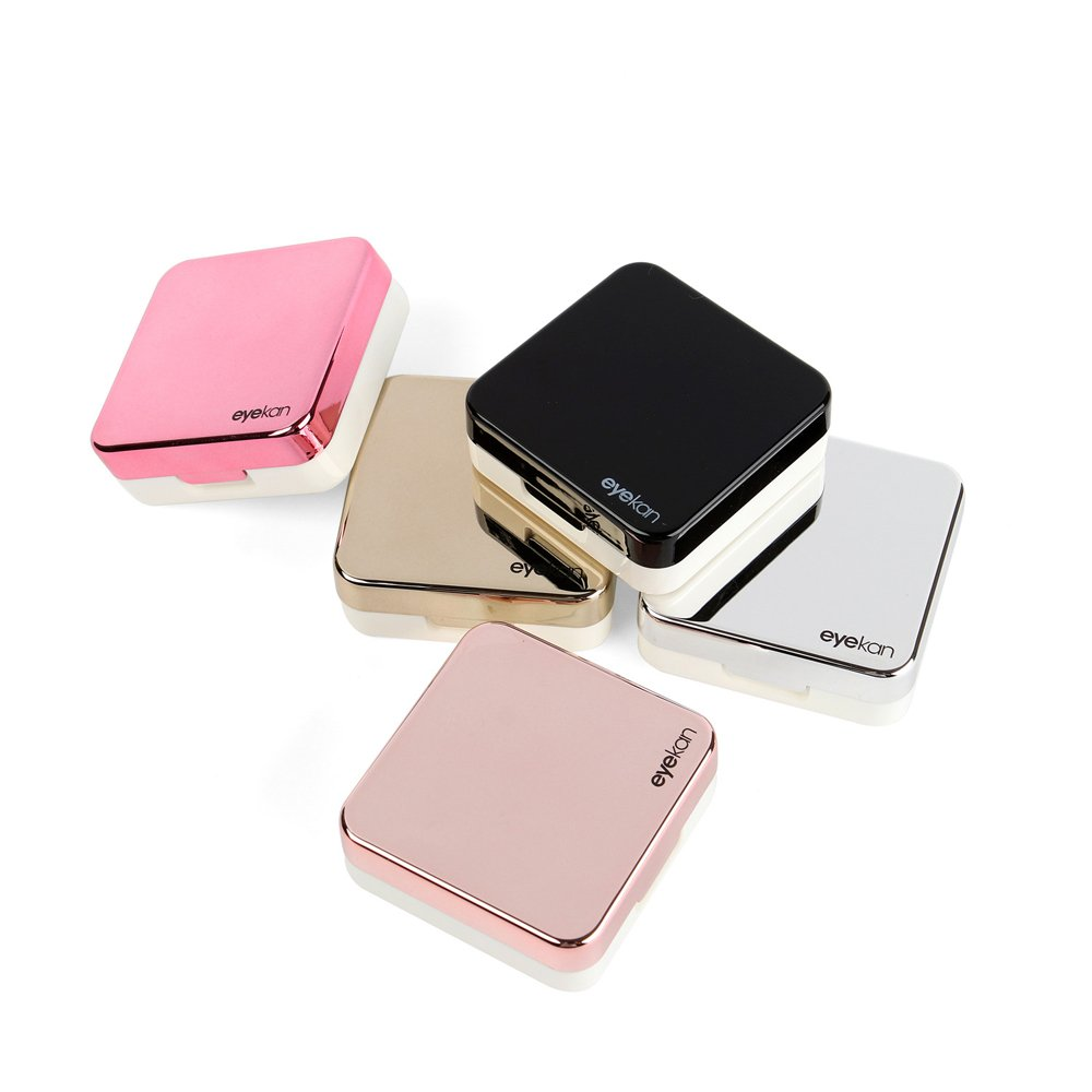 Mini Stylish Simple Contact Lens Travel Case, Aneky Container Kit Set Contacts Lens Hard Case Travel Kit Mirror with bottle with tweezers Container Holder