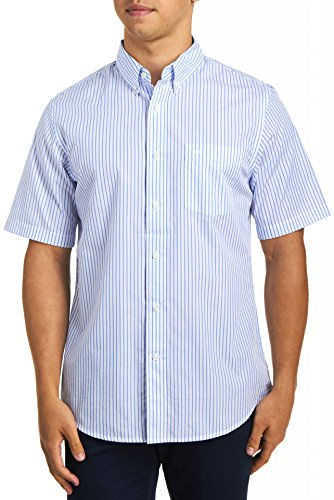 dockers-mens-short-sleeve-button-front-shirt-ceramic-blue-large