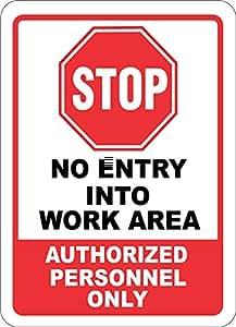 Etiqueta - Seguridad - Advertencia - Stop No Entry Into Work ...