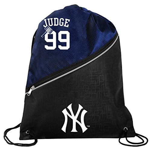 FOCO New York Yankees Aaron Judge #99 Official High End Diagonal Drawstring Backpack Gym Bag by FOCO