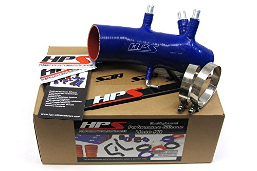 HPS 87-17882-BLUE Blue Silicone Air Intake Hose (Post MAF Tube) by HPS Performance