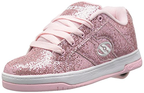 Heelys Kid's Split Sneaker, Light Pink Disco Glitter, 7 M US Big Kid