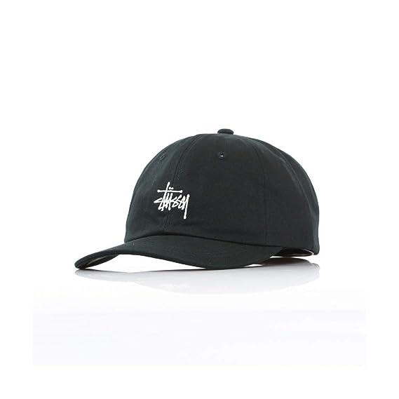 b668319d140 Stussy 131835 Stock Low Pro Cap Black  Amazon.co.uk  Clothing