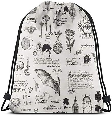 男の子と女の子のジムバッグ用シアター巾着バッグのテーマ36 x 43cm