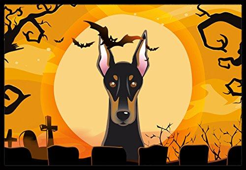 Caroline's Treasures Halloween Doberman Indoor or Outdoor Mat, 18 by 27