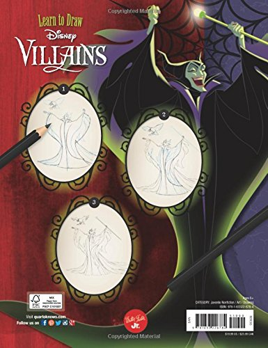 Learn to Draw Disney Villains: New edition! Featuring your favorite classic villains and new villains from some of the latest Disney and Disney/Pixar films (Licensed Learn to Draw)