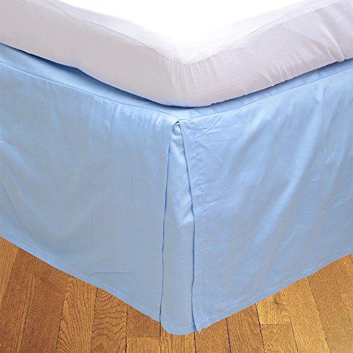 LaxLinens 250 fils cm², 100%  coton, finition élégante 1 jupe plissée de chute lit Longueur    30  Euro simple, plus léger-Bleu Bleu ciel-Uni