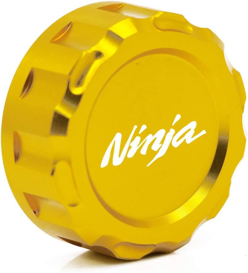 COPART Motorcycle Aluminum Oil Cover Rear Brake Fluid Reservoir Cap for Kawasaki Ninja 400 18-19