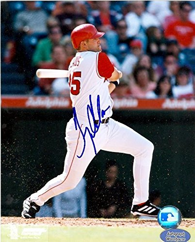 (Troy Glaus Signed Photograph - 8x10 Anahiem) - Autographed MLB Photos)
