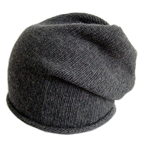 Frost Hats Italian Cashmere Slouchy Unisex Hat CSH-742-W Charcoal