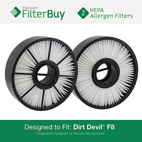 2 - FilterBuy Dirt Devil F8  HEPA Replacement Filters, Part