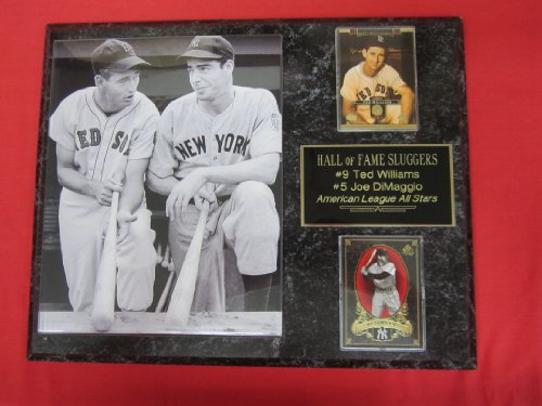 Joe DiMaggio Ted Williams 2 Card Collector Plaque #1 w/8x10 RARE Photo