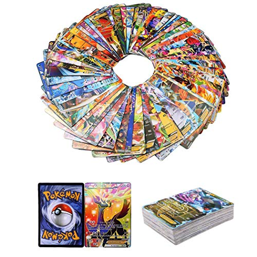 (Bulges 100pcs Pokemon TCG MEGA Flash Cards Set PikachuBall Charizard Blastoise Venusaur Holo Pokemon EX Card Plush Interactive Toys)