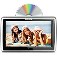 DDAUTO DD1019HT Headrest DVD Player Capacitive Touch Screen Multimedia Player with Insertion Drive Supports CPRM DVD SD USB 1080P Video 10.1 Inch Piano Black Upgrade Touchable Version