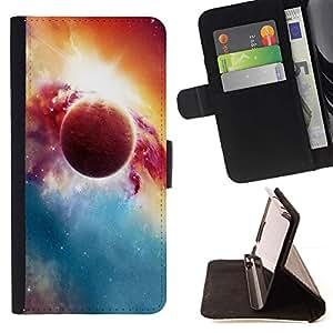 DEVIL CASE - FOR Samsung Galaxy S3 Mini I8190Samsung Galaxy S3 Mini I8190 - Beautiful Planet & Sun - Style PU Leather Case Wallet Flip Stand Flap Closure Cover