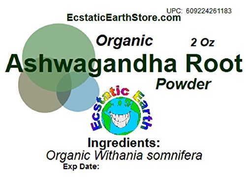 Organic Ashwagandha Root Powder ~ 2 Ounce ~ Withania somnifera by Ecstatic Earth (Image #1)