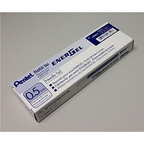 EnerGel LRN5 0.5mm リキッドゲルペン リフィル (12本パック) - ブルーインク B07NCX51JJ