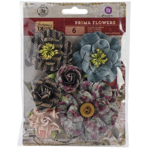 Prima Marketing Stationer's Desk Decorative Flowers, 1.75 to 2.75-Inch, (Prima Marketing Stationers Desk)