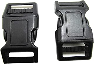 Adjustable Contoured Side Release Buckles Plastic Buckles Backpacks Buckles for Luggage Handbag,Shoes and Hats (6.3x3.7cm)