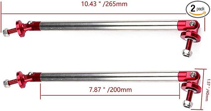 ROADFAR 2x RED Universal Adjustable Bumper Lip Diffuser Splitter Rod Strut Tie Bar 3.94 to 9